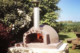 Campsite with pizza oven