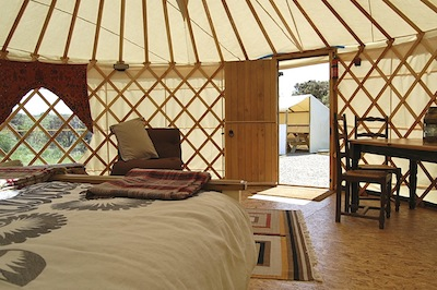 Yurt short breaks in Pembrokeshire